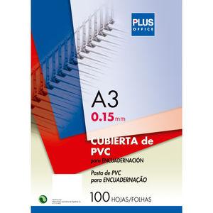 CAMPUS CUBIERTA PLUS PVC A3 0,15MM TRAN/100U CA3-CLEAR MAK220139