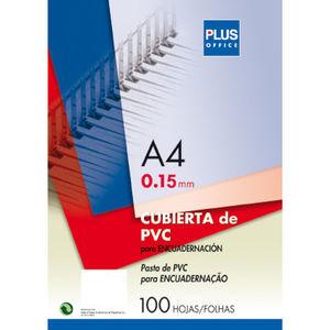 CAMPUS CUBIERTA PLUS PVC A4 0,15MM TRAN/100U PCA4-CLEAR MAK220140