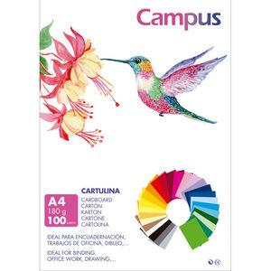 CAMPUS CARTULINA CAMPUS A4 180G BLANCO/100U 601334 MAK220142