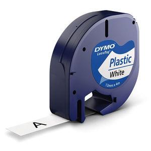PAPER MATE CINTA DYMO LETRATAG PLASTIC.NEGR/BLAN S0721610 MAK220288