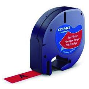 PAPER MATE CINTA DYMO LETRATAG PLASTIC.NEGR/ROJO S0721630/1203 MAK220290