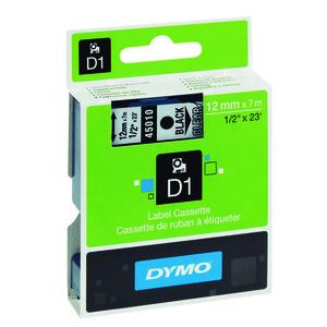 PAPER MATE CINTA DYMO D1 12MMX7M NEGRO/TRANSPARE 45010 MAK220294