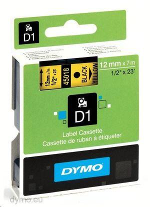 PAPER MATE CINTA DYMO D1 12MMX7M NEGRO/AMARILLO 45018 MAK220299
