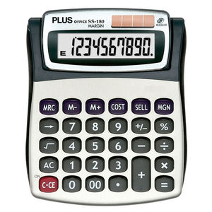 CAMPUS CALCULADORA PLUS SS-180 MARGIN KC020CSM MAK220425