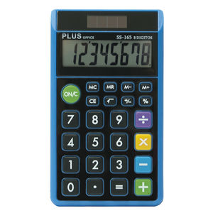 CAMPUS CALCULADORA PLUS SS-165 AZUL KC224AP MAK220516