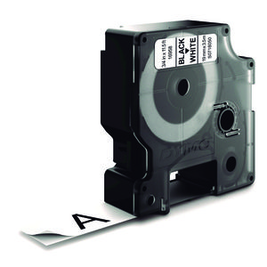 PAPER MATE CINTA DYMO D1 NYLON 19MMX3,5M NEG/BLA S0718050 MAK249977