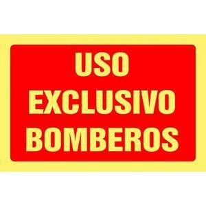 CARTEL 312X212 USO BOMBEROS 020-L MAK295019