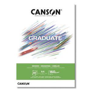 CANSON BLOC CANGRAD GRADUATE DIBUJO BLANCO 30H A4 160G 625515 400110365