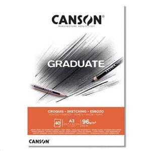 CANSON BLOC CANGRAD GRADUATE ESBOZO 40H A3 96G. 625518 400110363