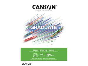 CANSON BLOC CANGRAD GRADUATE DIBUJO BLANCO 30H A3 160G 625516