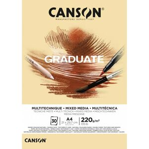 BLOC CANGRAD GRADUATE MIX MEDIA NATURAL 30H A4 220G 625511 400110368