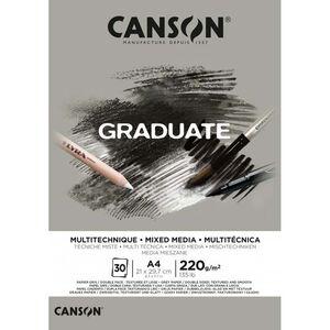 CANSON BLOC CANGRAD GRADUATE MIX MEDIA GRIS 30H A4 220G 625513 400110371