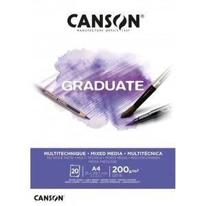 CANSON BLOC CANGRAD GRADUATE MIX MEDIA BL.20H A4 200G 625509 400110377