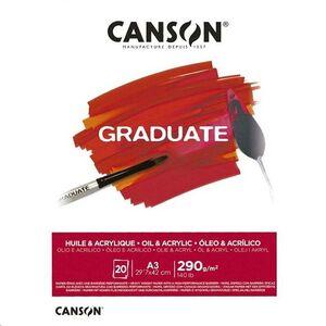 CANSON BLOC CANGRAD GRADUATE OLEO Y ACRIL.20H A3 290G 625508 400110381