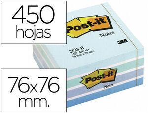 NOTA ADH.POST-IT 76X76 450H AZUL PAST