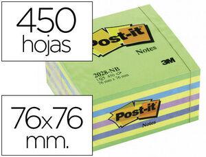 NOTA ADH.POST-IT 76X76 450H AZ/VE NEO