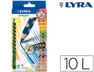 LAPICEROS LYRA GROOVE TRINGULAR ERGONOMICO 010 UDS COLORES L3811100