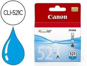 CARTUCHO CANON 521 CLI521C CYAN * 2934B001AA MAK167352