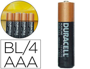 DURACELL PILAS SIMPLY AAA BLISTER 4UNIDADES S0560260 MAK749677