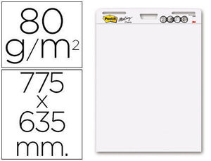 BLOC CONGRESO POST-IT LISO 775 X 635MM CON 30 HOJAS 80 GRS PACK 2+1 GRATIS