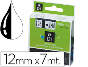PAPER MATE CINTA DYMO D1 12MMX7M NEGRO/BLANCO S0720530 MAK220295