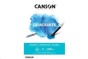 CANSON BLOC CANGRAD GRADUATE ACUARELA 20H A3 250G. 625506 40011375