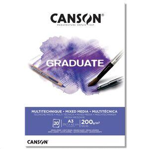 CANSON BLOC CANGRAD GRADUATE MIX MEDIA BL.20H A3 200G 625510 400110378