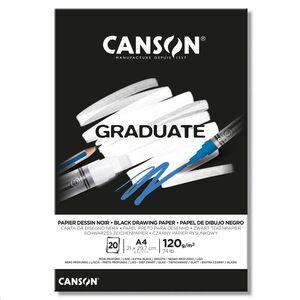 CANSON BLOC CANGRAD GRADUATE NEGRO 20H A4 120G. 625519 400110386