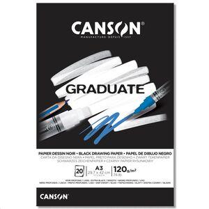 CANSON BLOC CANGRAD GRADUATE NEGRO 20H A3 120G. 625520 400110387