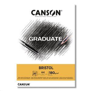 CANSON BLOC CANGRAD GRADUATE BRISTOL 20H A4 180G. 625521 400110383