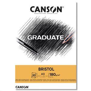 CANSON BLOC CANGRAD GRADUATE BRISTOL 20H A3 180G. 625522 400110384