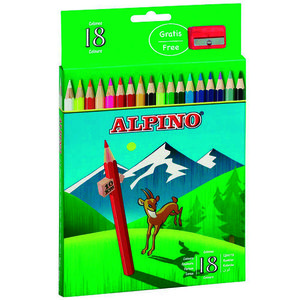 MASATS LAPICES ALPINO 18 COLORES AL000656 MAK630041