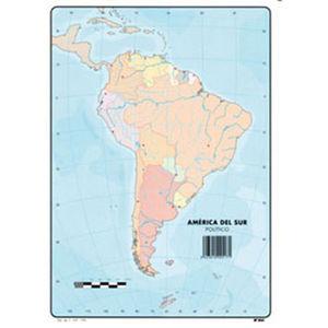 MAPA MUDO AMERICA SUR POLITICO 00165517 MAK630356