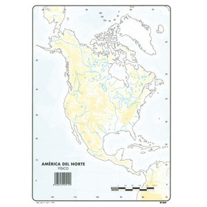 MAPA MUDO AMERICA NORTE FISICO 00165514 MAK630357