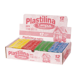 CAMPUS PLASTILINA CAMPUS MEDIANA 200GR 4COL. 4 COLORES MAK630535