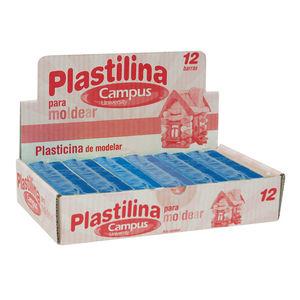 CAMPUS PLASTILINA CAMPUS MEDIANA 200G AZUL 630538 MAK630538