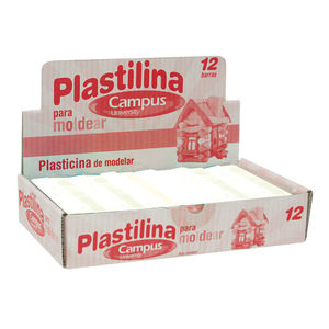 CAMPUS PLASTILINA CAMPUS MEDIANA 200G BLANCO 630539 MAK630539