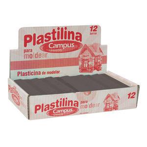 CAMPUS PLASTILINA CAMPUS MEDIANA 200G NEGRO 630544 MAK630544