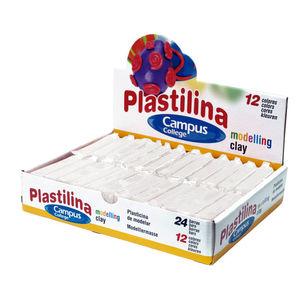 CAMPUS PLASTILINA CAMPUS PEQUEÑA 60G BLANCA PO-1440-24WH MAK630625
