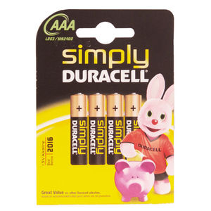 BIC PILAS DURACELL SIMPLY AAA/BL.4UD S0560260 MAK749677