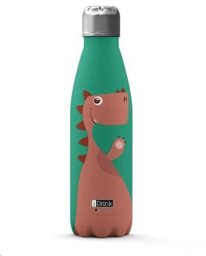 BOTELLA TERMICA DINO DINOSAURIO 500ML ACERO INOXIDABLE