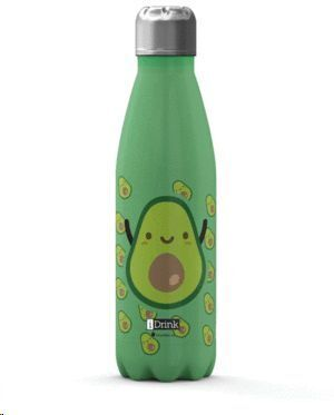 BOTELLA TERMICA AGUACATE AVOCADO 500ML ACERO INOXIDABLE