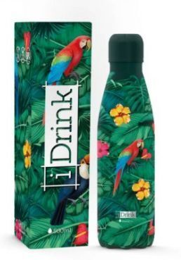 BOTELLA TERMICA PAJAROS TROPICALES 500ML ACERO INOXIDABLE