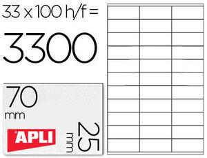 APLI ETIQUETAS APLI A4 70X25,4 100H 1270 MAK001255