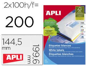 ETIQUETAS APLI A4 199X144 C/ROMO 100H