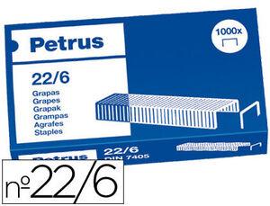 ESSELTE GRAPAS PETRUS N-22/6 CAJA 1000U 55721 MAK040088