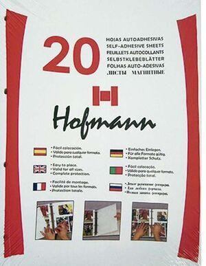 HOFMANN HOJAS ALBUM FOTO ADHESIVA B.20 9620 9620 HOJAS MAK215067