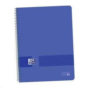 OXFORD BLOC OXFORD A4+ 80H TAPA PLASTICO CN5MM AZUL MARINO 400149358