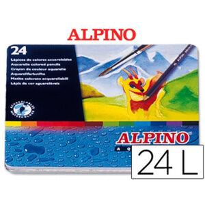 MASATS LAPIZ COLOR ACUAR ALPINO 24 04 AL000004 MAK655066