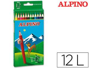 MASATS LAPICES ALPINO 12 COLORES AL000654 MAK630040